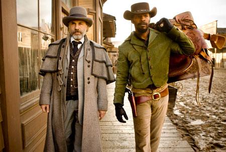 Christoph Waltz y Jamie Foxx en Django Desencadenado