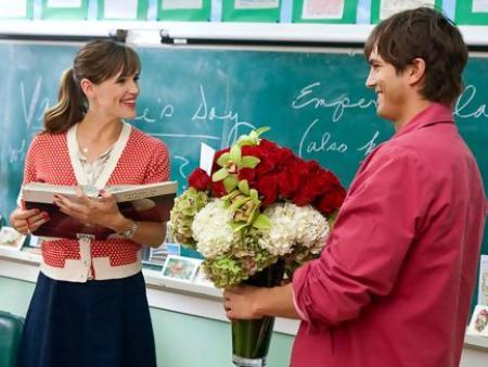 Jennifer Garner y Ashton utcher en Historias de San Valentín