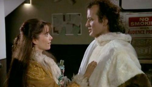 Karen Allen y Bill Murray en Los Fantasmas Atacan al Jefe