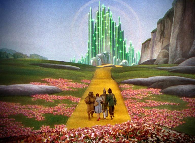 Los protagonistas de El Mago de Oz van a ver al Mago