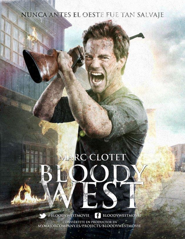 Poster de Bloody West con Marc Clotet