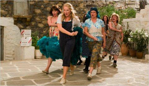 Cristine Baranski, Meryl Streep y Juliet Walters en Mamma Mia