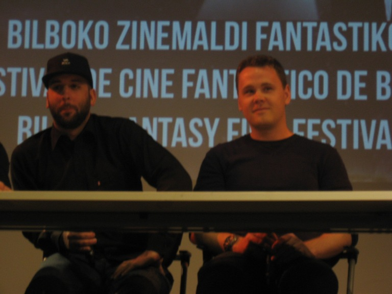 Gabriel Carrer y Angus McLellan, director y guioista de In the House of Flies