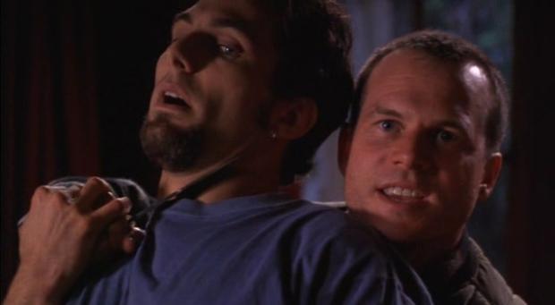 Jonathan Penner y Bill Paxton en La Última Cena