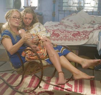 Meryl Streep y Amanda Seyfried en Mamma Mia