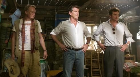 Stellan Skarsgard, Pierce Brosnan y Colin Firth en Mamma Mia
