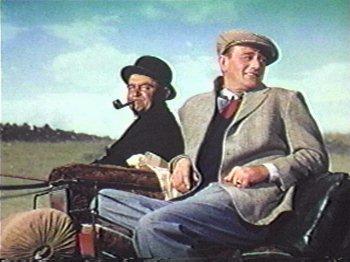 Barry Fitzgerald y John Wayne en El Hombre Tranquilo