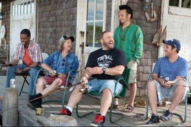 Chris Rock, David Spade, Kevin James, Rob Schneider y Adam Sandler en Niños Grandes