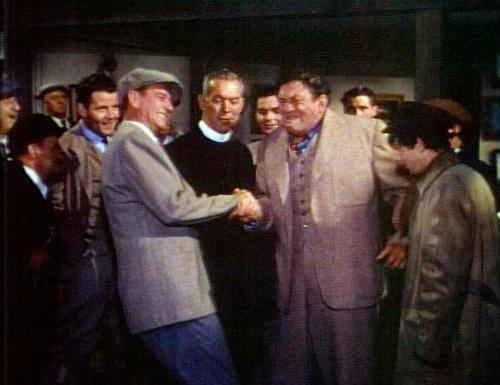 John Wayne y Victor McLaglen en El Hombre Tranquilo