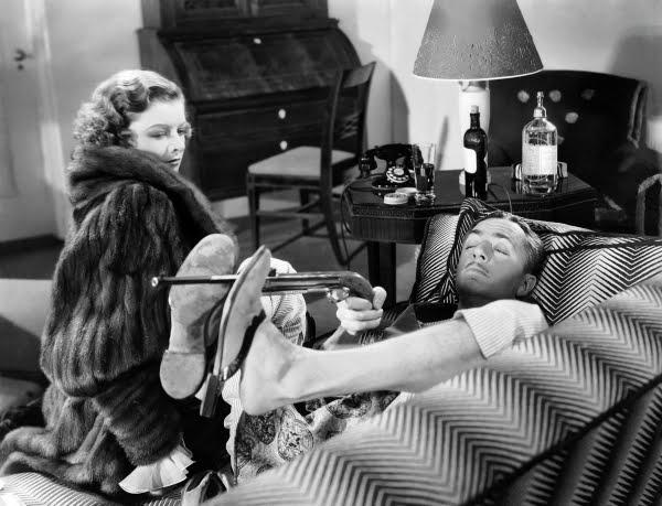 Myrna Loy y William Powell en La Cena de los Acusados