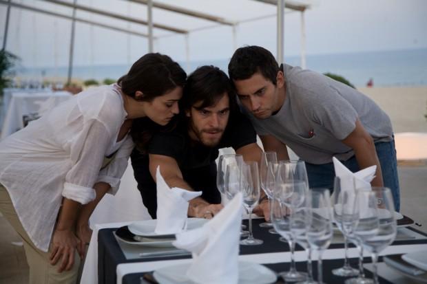 Olivia Molina, Alfonso Bassave y Paco León en Dieta Mediterránea