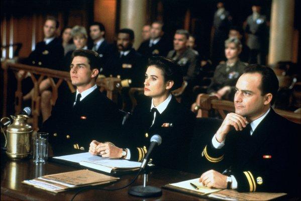 Tom Cruise, Demi Moore y Kevin Pollak en Algunos Hombres Buenos