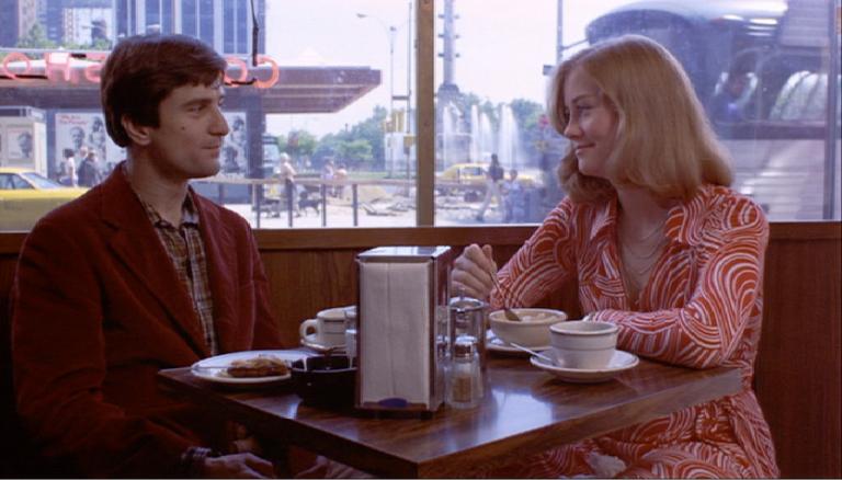 Robert De Niro y Cybil Shepherd en Taxi Driver