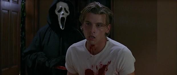 Skeet Ulrich y Ghostface en Scream