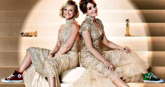 Amy Poehler y Tina Fey en una promo de los Globos de Oro 2014
