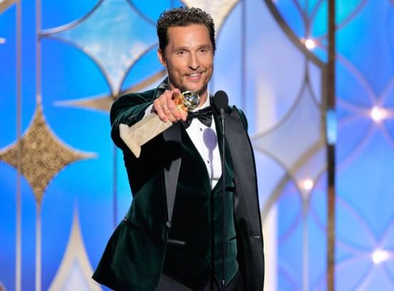 Matthew McConaughey y su Globo de Oro 2014