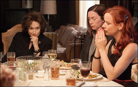 Meryl Streep, Julianne Nicholson y Juliette Lewis en Agosto
