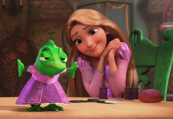 """Pascal y Rapunzel en """"Enredados"""""""