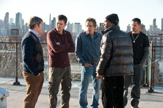 "Matthew Broderick, Casey Affleck, Ben Stiller, Michael Peña y Eddie Murphy en ""Un Golpe de Altura"""