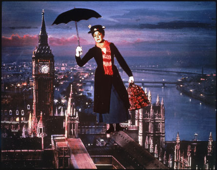 Julie Andrews en Mary Poppins