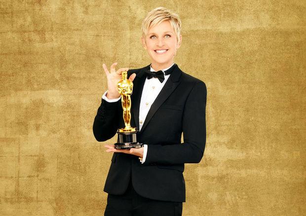 Ellen DeGeneres en el poster de los Oscar 2014