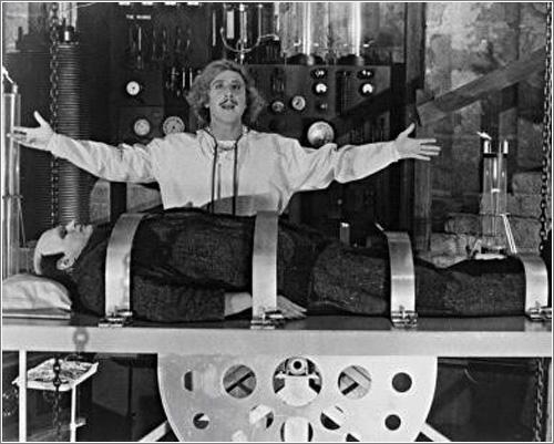Gene Wilder y Peter Boyle en El Jovencito Frankenstein
