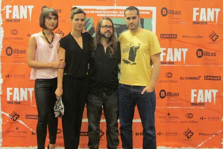 Mónica Miranda, Marta Guerras, Borja Crespo y Richard Sahagún en la presentación de Neuroworld, FANT 2014