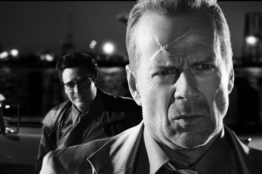 Bruce Willis y Michael Madsen en Sin City