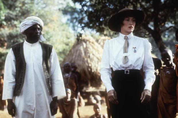 Malick Bowens y Meryl Streep en Memorias de África