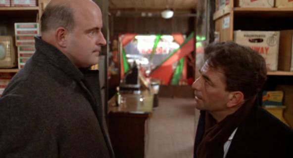 Peter Boyle y Peter Falk en El Mayor Robo del Siglo
