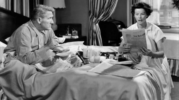 Spencer Tracy y Katharine Hepburn en La Costilla de Adán