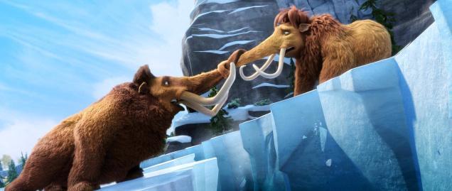 Manny y Ellie en Ice Age 4