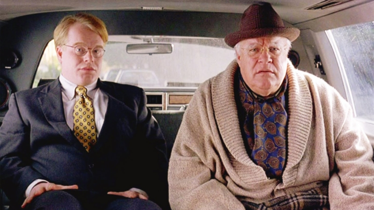 Philip Seymour Hoffman y David Huddleston en El Gran Lebowski