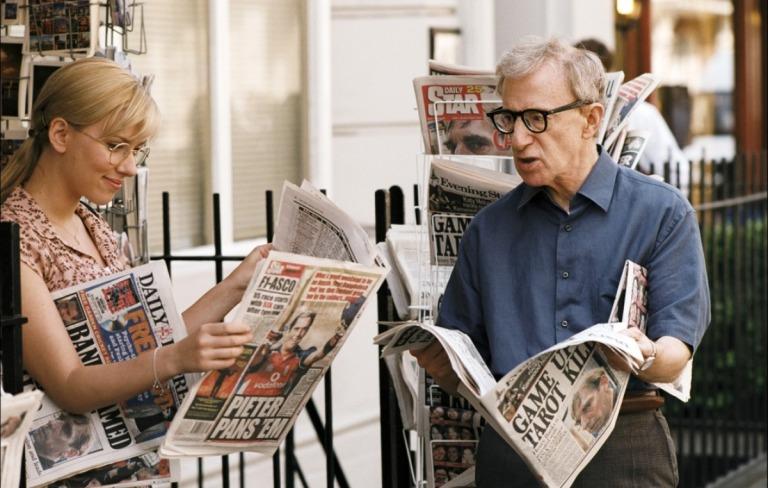 Scarlett Johansson y Woody Allen en Scoop