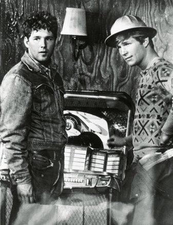 Timothy Bottoms y Jeff Bridges en La Última Película