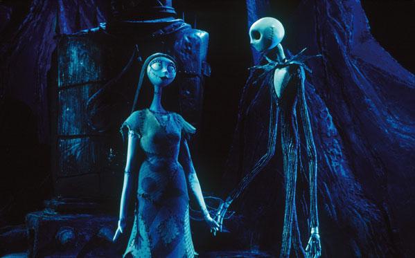 Jack y Sally en Pesadilla Antes de Navidad