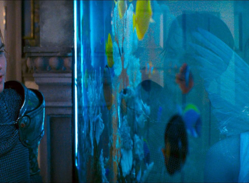 Leonardo DiCaprio y Claire Danes en Romeo + Julieta