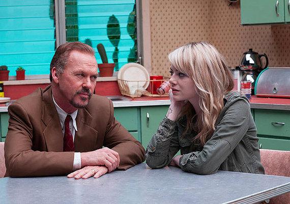 Michael Keaton y Emma Stone en Birdman
