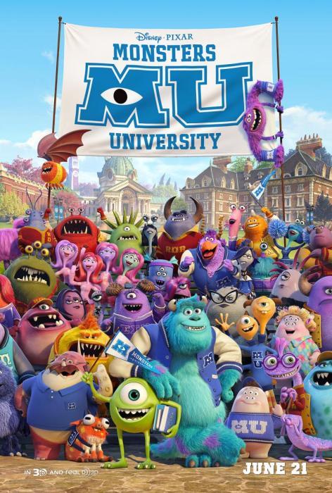 Poster de Monstruos University