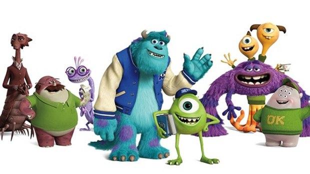 Protagonistas de Monstruos University