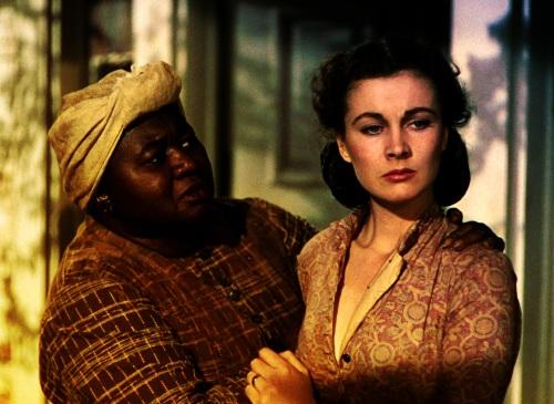 Hattie McDonald y Vivien Leigh en Lo que el Viento se Llevó
