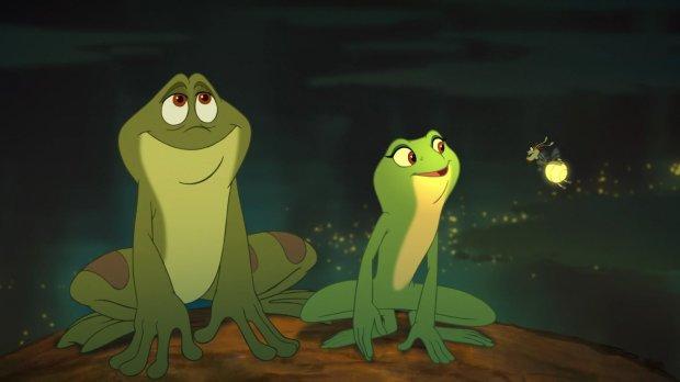 Naveen, Tiana y Randy en Tiana y el Sapo