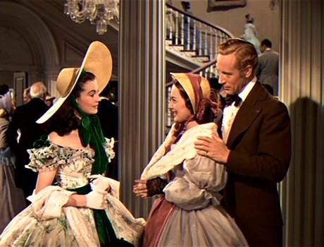 Vivien Leigh- Olivia de Havilland y Leslie Howard en Lo que el Viento se Llevó