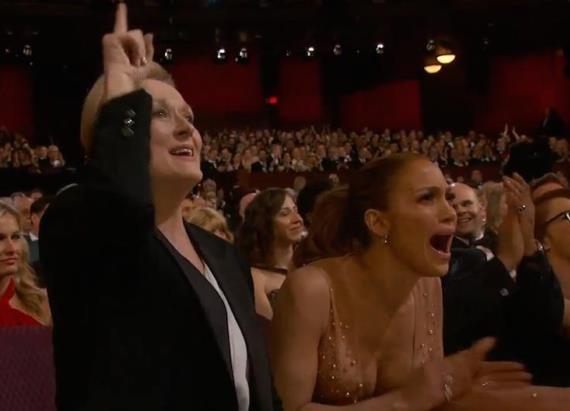 Meryl Streep y Jennifer López en los Oscar 2015