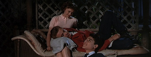 Sal Mineo, James Dean y Natalie Wood en Rebelde Sin Causa