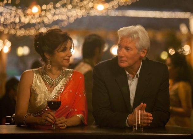Lillete Dubey y Richard Gere en El Nuevo Exótico Hotel Marigold