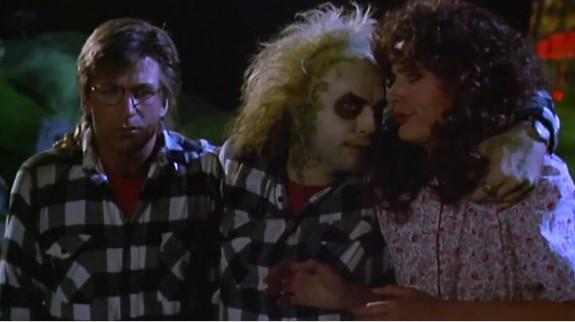 Alec Baldwin, Michael Keaton y Geena Davis en Bitelchús
