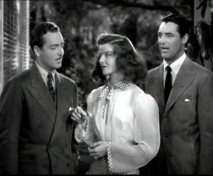 John Howard, Katharine Hepburn y Cary Gran en Historias de Filadelfia