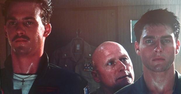 Anthony Edwards, James Tolkan y Tom Cruise en Top Gun