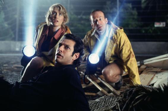 Jeff Goldblum, Laura Dern y Bob Peck en Parque Jurásico